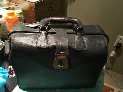 Antique leather Doctor's bag dark brown