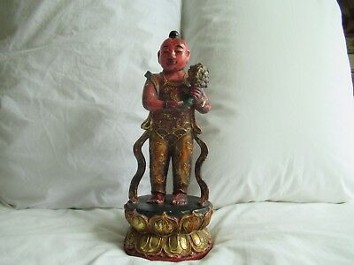 Antique Chinese Carved Wooden Figure