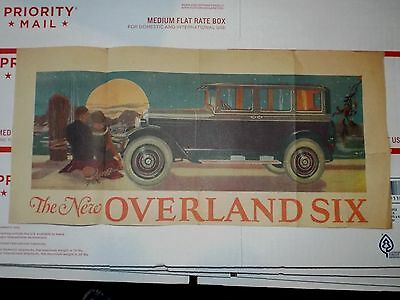 1925 Willys New Overland Six car automobile ads NEWSPAPER AD == FREE Postage USA