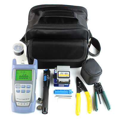 IK- Fiber Optic FTTH Tool Kit with FC-6S Cleaver and Optical Power Meter 5km Cha