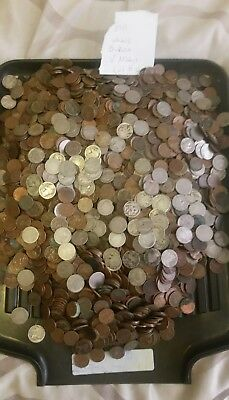 Cull Us V Nickels, Buffalo Nickels and Wheat Cents, 22.3 Pounds Lot # 6