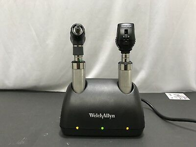 Welch Allyn Universal Desktop Charger W/ Otoscope & Ophthalmoscope (11826-1AAJ)