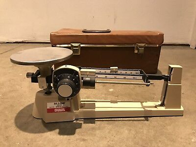 Vintage Ohaus Triple Beam Dial O Gram 2610g Balance Beam Scale - Used