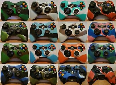 Xbox 360 Camouflage Silicone Controller Cover 14 Styles Protective Skin from U.K