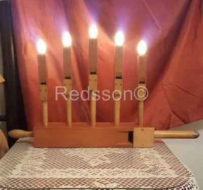 Redsson Handcrafted Art-ique Steampunk Wood Six Pipe ORGAN Candleabra  PL05