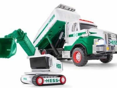 2017 Hess Toy Dump Truck / Loader W/ Batteries - Free Priority Shipping