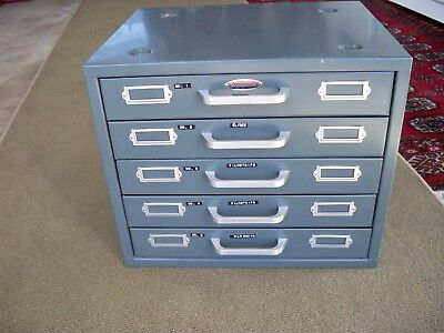 Neumade Slide Storage Cabinet 5-Drawer 25-Rows 5000-Slides w/ Some Dividers Nice