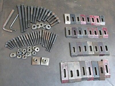 92 Pc 8 lbs. Of Mini-Pallet Size Strap Clamp Hold Downs F/ Milling Machine D6578