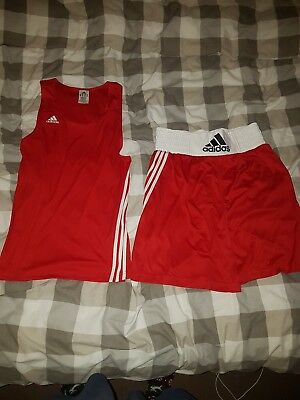 Adidas mens boxing shorts and vest