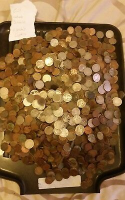 Cull Us V Nickels, Buffalo Nickels and Wheat Cents, 18.5  Pounds Lot # 10