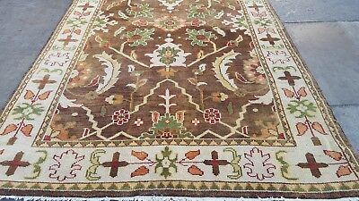 Authentic Vintage Indo Persian Sultanabad Mahal Rug Allover Floral Pattern