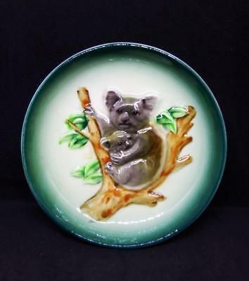 Vintage Collectable Ceramic Pin Dish Koala Mom And Joey On Branch Made In Japan
