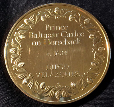 Prince Baltasar Carlos, 1000 Grain Sterling Medal By Franklin Mint