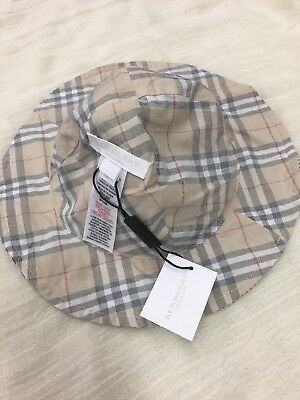 BURBERRY CHildrens Harlee Stripe Indigo Authentic Hat Size XS NWT!!
