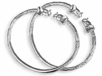 Elephant .925 Sterling Silver West Indian Bangles (Pair)