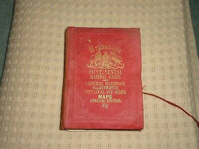 Bradshaws Continental Railway Guide Book 1888 With Maps