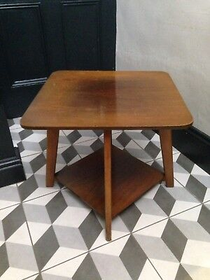 Vintage Revolving Side Table - 50cm Sq. / 45cm H Approx - 2x Available