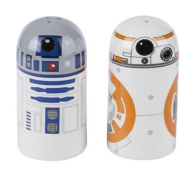 Star Wars R2D2 and BB8 Salt and Pepper Shakers. Disney