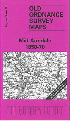 Old Ordnance Survey Map Mid Airedale 1858-1870 Bradford Bramhope Pudsey Skipton