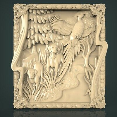 (1092) STL Model Hunting for CNC Router 3D Printer Artcam Aspire Bas Relief