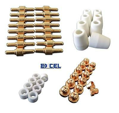 46pcs Consumables for Plasma Cutter 40D CUT40 50D CUT50 Electrodes Tips Nozzle