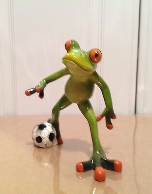 Brand New Frog Playing Soccer    Nib