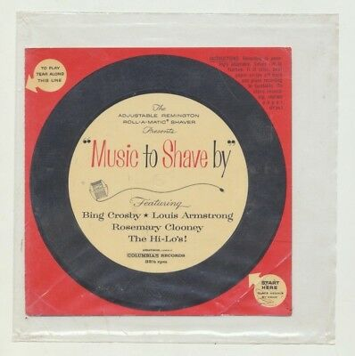 "Remington 33 RPM Bing Crosby, Louis Armstrong, R.Clooney ""Music To Shave By"" NM"