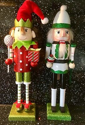 "2 CHRISTMAS NUT CRACKERS  15"" Tall"