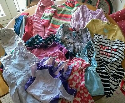 Large Bundle Girls 2-3 Clothes dresses, Tops (ext, Mothercare, Tu, etc 17 items)