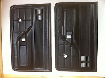 75-80 Ford F100 Parts Black Door Trim With Padded Armrest Pair New Left + Right