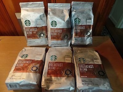 6 Bags  Breakfast Blend Medium   Ground Coffee      20 oz 1.25 lb each .