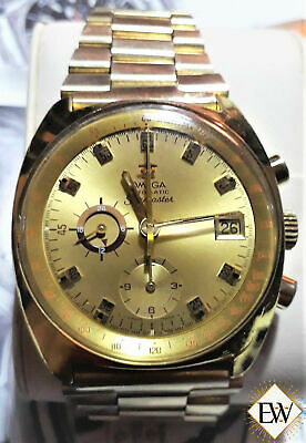 Serviced VINTAGE OMEGA SEAMASTER 176 007 Cal 1040 Chronograph GOLD JEDI Watch