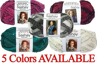 Read Heart Boutique Sashay Sequins Ruffle Scarf Yarn 1 Skein - 5 Colors Options