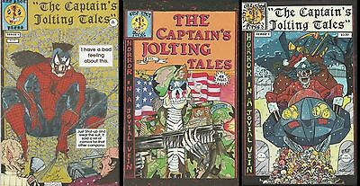 Captain's Jolting Tales 4 Comic Lot, Horror In The Ec Tradition, One Shot Press