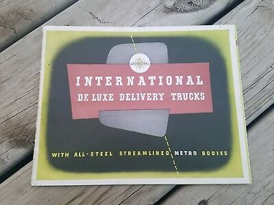 1941 International De Luxe Delivery Truck Brochure / Rare! Original! Wow!