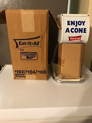EAT IT ALL From KEEBLER- Ice Cream Cone Dispenser. New item