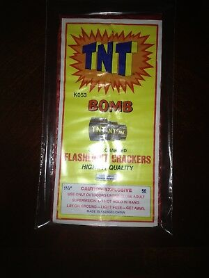 TNT Bomb 50's dot firecracker label