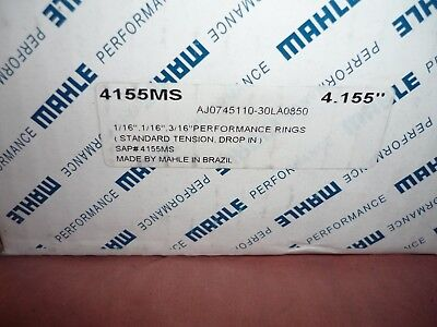 """Mahle Ring Set 4155ms plasma moly """"drop in"""" 4.155"""" bore NEW complete set"""