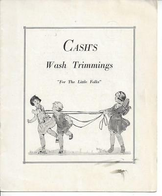 "ca. Early 1900s Cash's Wash Trimmings ""For The Little Folks"" Advertisement"