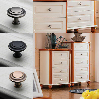 Door Handle Knob Zinc Alloy Round Drawer Cabinet Cupboard Wardrobe Pull MARK