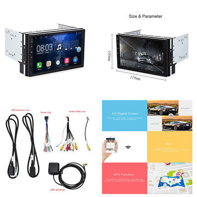 2DIN Android6.0.1 Car GPS Nav Stereo Radio Quad-core Wifi DVR Video Radio Player