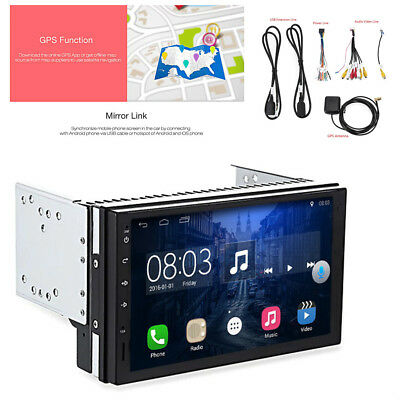 HD 2 Din Android 6.0.1 Car GPS Nav Stereo Quad-core Wifi DVR FM/AM Radio Player