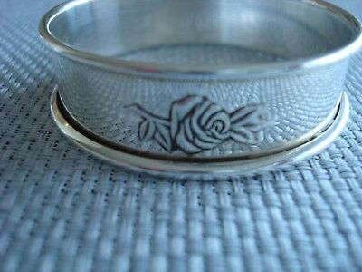 REED BARTON 'CLASSIC ROSE' sterling silver ~ 1 NAPKIN RING/S - 6 AVAIL ~ GREAT!