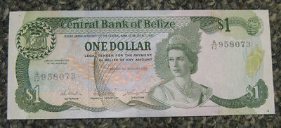 Belize - 1.1.1987 One Dollar Banknote (P-46c) - Nice!