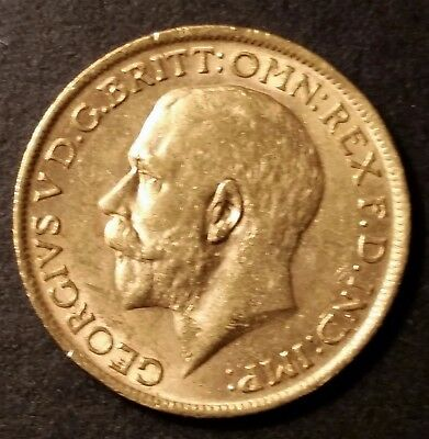 1911 Great Britain Full Sovereign .2354 Troy Ounces Gold Coin UNC