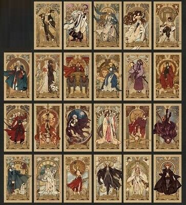 Fate Grand Order FGO Tarot Card  23pcs Cosplay Prop Japanese Anime Accessories
