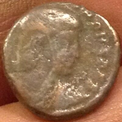 Authentic small ancient Roman Emperor? w/ battle on back coin good detail V6
