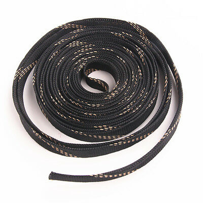 10M-High Density Harness Nylon Expandable PET Braided Cable Wire Sleeve Sleeving