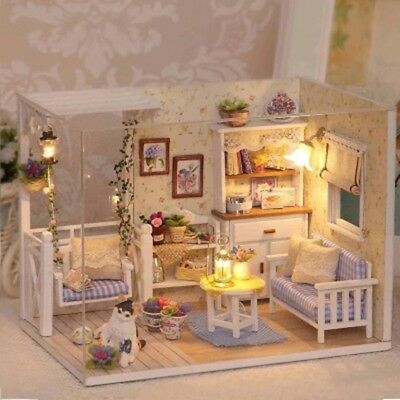 Doll House Furniture Kids DIY Miniature Dust Cover 3D Paper Dollhouse Toy Good