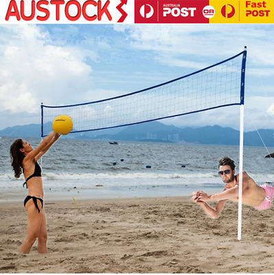 Premium Beach Grassland Volleyball Set Net With Volleyball Pump Storage Bag